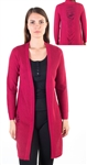Ladies Semi Sheer Tattered Open Front Cardigan