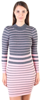 Ladies Bodycon Mock Neck Rib Long Sleeve Sweater Dress  by Special One