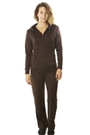 Ladies French Terry Hoodie Jacket and Pant Set / 1-2-2-1