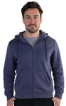 Men's Fleece Knit Hoodie with Zippered Front