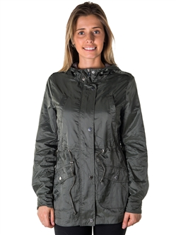 Ladies Plus Size Zip Up Light Weight Nylon Anorak Jacket, Waterproof, Jersey Lined Hood, Roll Up Sleeve & Waistband String By Special One