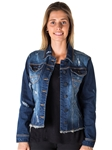 Ladies Distress Denim Jacket