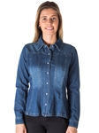 Ladies Denim Shirt Jacket