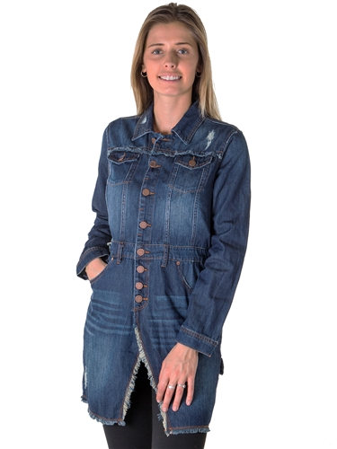 Ladies Denim Dress Jacket
