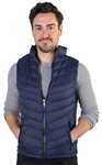 Men's Quilted Vest with Faux Fur Body Lining and Stretchable Side Gathering