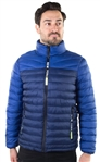"Men's Two Color Quilted Puffer Jacket with Faux Fur Body Lining and  ""New York"" Print on Zippers"