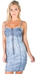 Ladies Pleated Cami Denim Dress