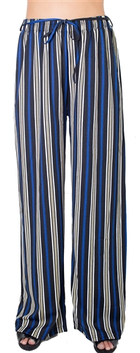 Ladies Striped Palazzo Pants