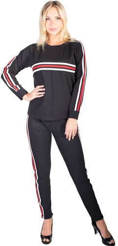 Ladies Side Stripe Set
