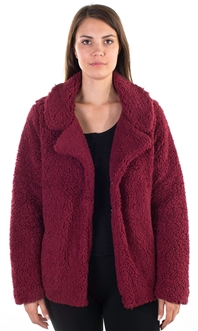 Ladies Teddy Faux Shearling Jacket