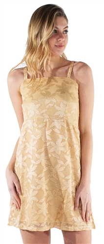 Women's Overall Lace Self Tie Sleeveless Sun Dress