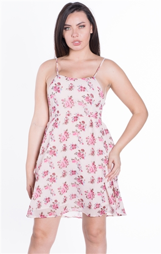 Women's Floral Print Sleeveless Sun Dress