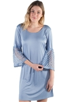 Women's Shift Dress with Sheer Lace Sleeves