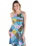 Women's Abstract Geometric Cut Print Sleeveless Dress