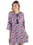 Women's All-over 3/4 Kimono Sleeves Dress