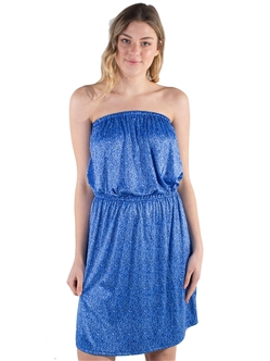 Women's Strapless Dress with Elasticized Waist