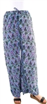 Women's Printed Palazzo Pants With Elasticized Drawstring Waist