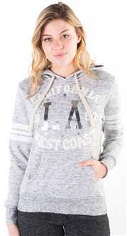 "Women's Space Dye, Pullover Hoodie with ""California West Coast"" Print"
