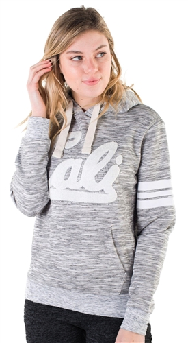 "Women's Space Dye, Pullover Hoodie with ""Cali"" Print"