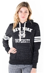 "Women's Space Dye, Pullover Hoodie with ""New York University"" Print"