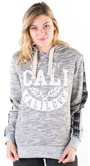 "Women's Space Dye, Pullover Hoodie with ""New York University"" Print and Side Tape Details/"