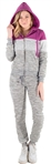 Women's Space Dye, Faux Sherpa Lined Hoodie and Jogger Set with Color Blocking