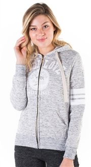 "Women's Space Dye, Zip Up Hoodie with ""Cali Love"" Print"