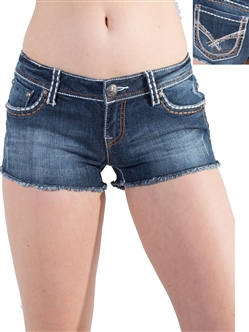 Women's LA Idol Shorts with Thick Threading and Embellishments