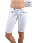 Women's LA Idol Bermuda Shorts with Thick Threading and Embellishments/1-1-1-2-2-3-3-1-1-1