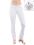 Women's LA Idol White Boot Cut Jeans with Thick Threading and Embellishments/1-1-1-2-2-2-2-2-1