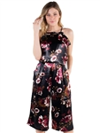 Women's Eyeshadow Floral Culotte Jumpsuit
