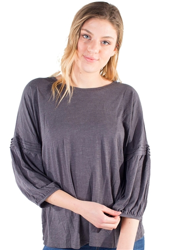 Women's Universal Thread by Eyeshadow Top with Pleated Balloon Sleeves