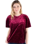 Women's Eyeshadow Basic Crop Velvet Top