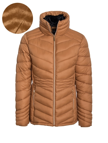 Women's High Collar Shape Forming Puffer Jacket
