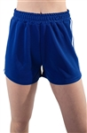 4225N-SP201-Blue-Women's Shorts with Side Stripes and Elasticized Waist