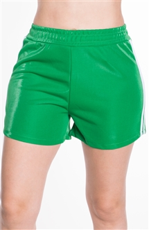 Women's Shorts with Side Stripes and Elasticized Waist