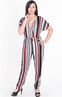 Women's Wrap Jumpsuit with Kimono Sleeves