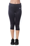 4238N-274156-Black- Women's Active Running Capri / 1-2-3-1