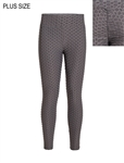 Women's Honeycomb Ruched Leggings with Pockets