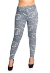Women's One Size Paisley Printed Leggings