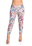 Women's One Size Floral Print Leggings
