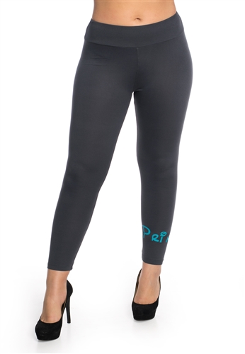 "Women's One Size Leggings with ""Princess"" Print"