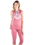 4500-FT1821-Women's French Terry Sleeveless Pullover Hoodie and Capri Jogger Set<BR>More colors