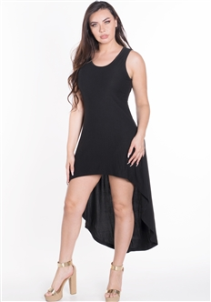 Women's Sleeveless High Low Dress