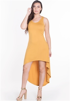 Women's Sleeveless High Low Dress/