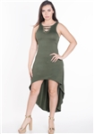 Women's Strappy Sleeveless High-Low Dress