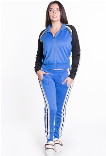 Women's Jacket and Joggers Tricot Tracksuit Set