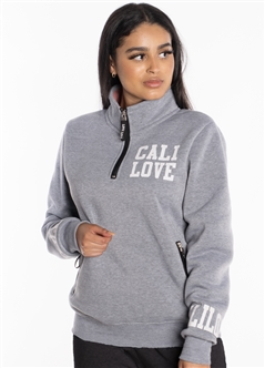 "Women's Half-Zip Sweatshirt with ""Cali Love"" Print"