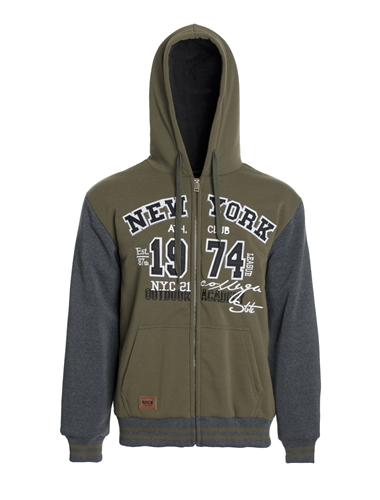 Men's Zip Up Hoodie with Faux Fur Lining