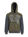 Men's Plus Size Zip Up Hoodie with Faux Fur Lining/6